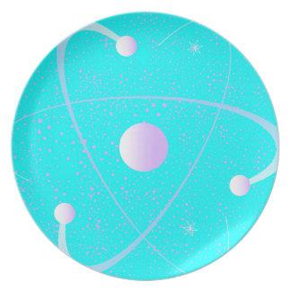 Prato De Festa Fundo da estrutura da massa atômica