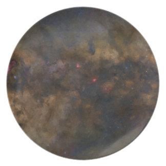Prato De Festa Galáxia abstrata com nuvem cósmica 2