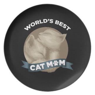 Prato De Festa Gato, gatinho, & mamã do animal de estimação para