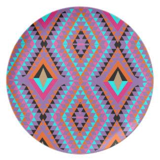 Prato De Festa Geométrico colorido brilhante moderno modelado