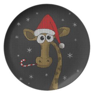 Prato De Festa Girafa do Natal