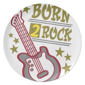 Prato De Festa Guitarra nascida da rocha, design do guitarrista