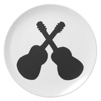 Prato De Festa guitarra pretas