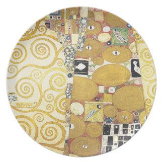 Prato De Festa Gustavo Klimt - o abraço - trabalhos de arte
