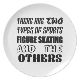 Prato De Festa Há dois tipos de patinagem artística dos esportes