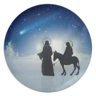 Prato De Festa História Mary e Jesus do Natal