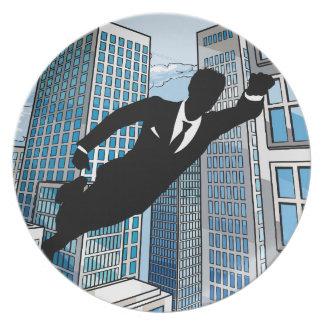 Prato De Festa Homem de negócios do super-herói
