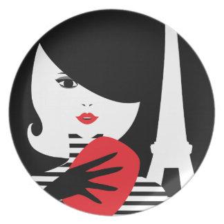 Prato De Festa Ilustração à moda francesa da forma da forma
