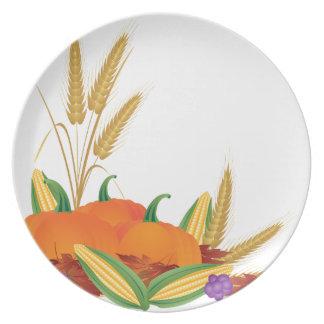 Prato De Festa Ilustração da colheita da queda