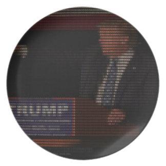 Prato De Festa Imagem de Donald Trump feita de sinais de dólar