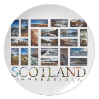 Prato De Festa Impressões de Scotland