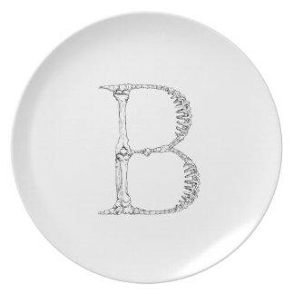 Prato De Festa Inicial do osso da letra B