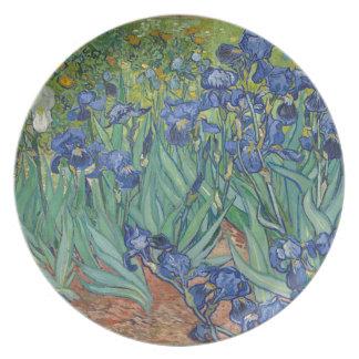 Prato De Festa Íris de Vincent van Gogh que pintam o trabalho de