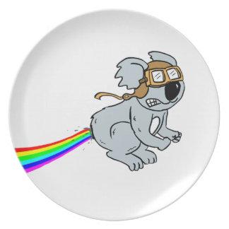 Prato De Festa Koala com arco-íris