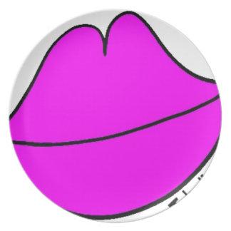 Prato De Festa Lábios cor-de-rosa