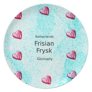 Prato De Festa Língua do Frisian (Alemanha e Países Baixos)