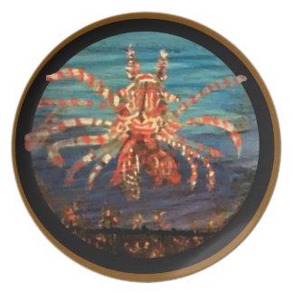Prato De Festa Lionfish - placa da melamina