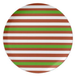 Prato De Festa Listra branca vermelha verde