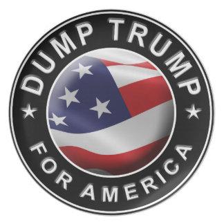 Prato De Festa Logotipo oficial de DumpTrumpforAmerica