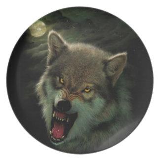 Prato De Festa Lua do lobo