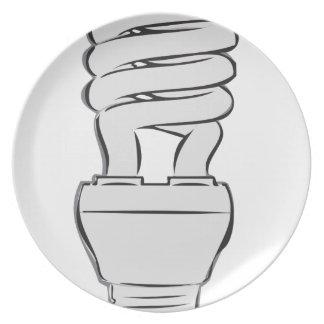 Prato De Festa Luz de poupança de energia