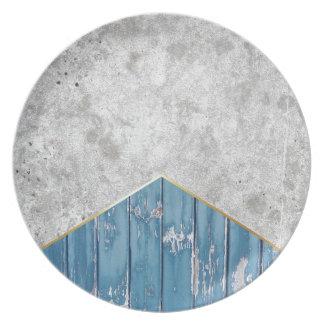 Prato De Festa Madeira azul #347 da seta concreta