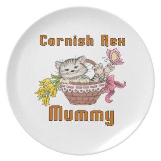 Prato De Festa Mamã Cornish do gato de Rex