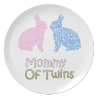 Prato De Festa Mamães gêmeas