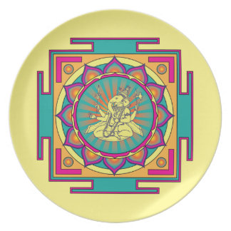 Prato De Festa Mandala de Ganesha
