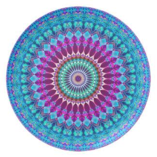 Prato De Festa Mandala geométrica G382 da placa