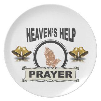 Prato De Festa mãos da ajuda e da oração
