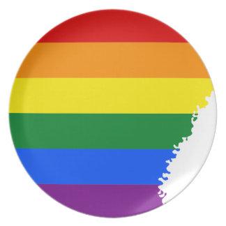 Prato De Festa Mapa da bandeira de Arkansas LGBT