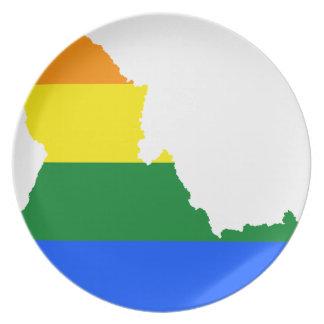 Prato De Festa Mapa da bandeira de Idaho LGBT