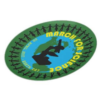 Prato De Festa Março para a ciência - Dia da Terra - 22 de abril