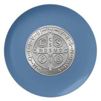 Prato De Festa Medalha transversal de Benedict da rua