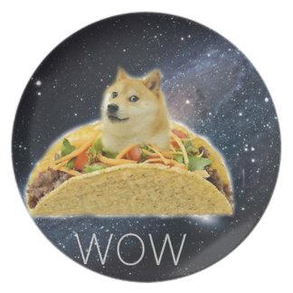 Prato De Festa meme do taco do espaço do doge