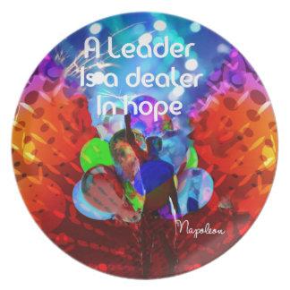 Prato De Festa Mensagem do incentivo para a liderança