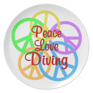 Prato De Festa Mergulho do amor da paz