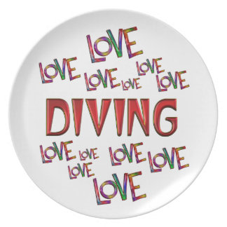 Prato De Festa Mergulho do amor do amor
