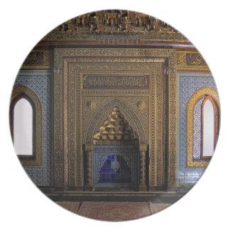 Prato De Festa Mesquita o Cairo do palácio de Manial