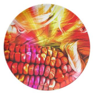 Prato De Festa milho listrado quente