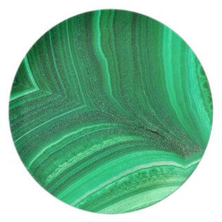 Prato De Festa Mineral verde-claro da malaquite