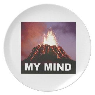 Prato De Festa minha mente do vulcão