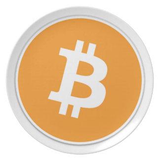 Prato De Festa Moeda cripto de Bitcoin - para o Bitcoin ventila!