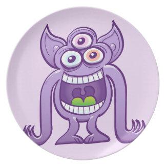 Prato De Festa monstro estrangeiro Três-eyed que ri perniciosa