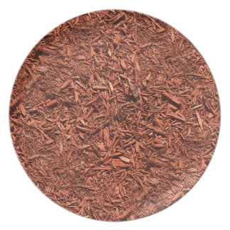 Prato De Festa mulch detalhado do cedro vermelho para o