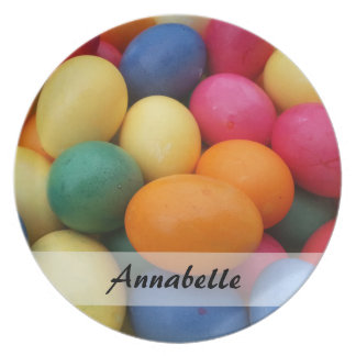 Prato De Festa Multi ovos da páscoa coloridos festivos