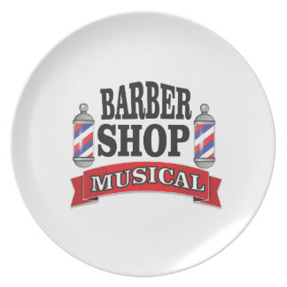 Prato De Festa musical da barbearia