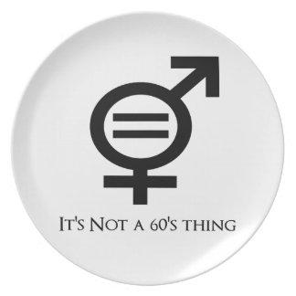Prato De Festa Não é uma coisa 60s