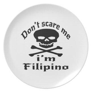 Prato De Festa Não faz o susto mim que eu sou filipino